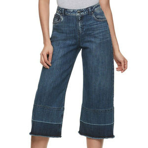 NEW Jennifer Lopez wide leg crop jeans 2